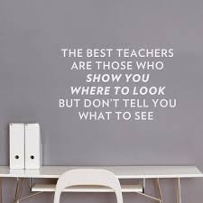 best teachers wall quote decal sticker