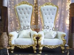 Throne Chairs For Hire King Queen Throne Chairs Sofa Beezees Creations