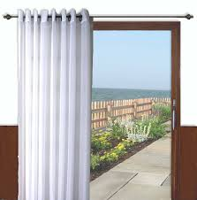 Textured Cotton Tie Top Drape by Patio Door Curtains Thecurtainshop Com