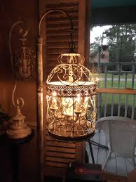Shabby Chic Bird Cages by Chandelier Floor Lamp Vintage Chandelier Bird Cage Light Shabby