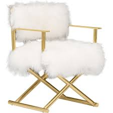 gigi mongolian fur chair gold what s new furniture