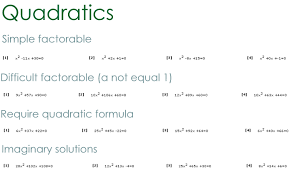 equation worksheet maker quadratic problem types