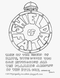 armor of god coloring pages within is my shield page eson me