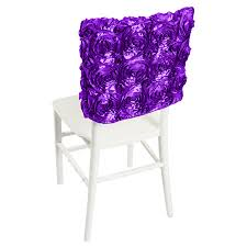 rosette chair covers purple satin rosette chair cap smarty had a party