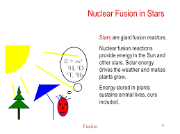 nuclear fusion in stars