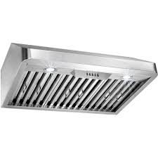 home depot under cabinet range hood akdy 30 in under cabinet range hood in stainless steel with leds