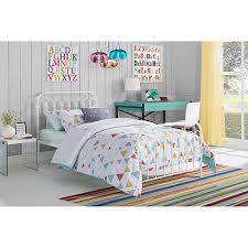 9 by novogratz bright pop twin metal bed multiple colors white
