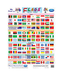 South America Flags Buy Navneet Flags Of World Big Wall Chart Online In India
