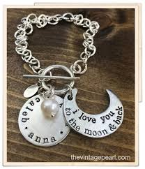 charm you bracelet images Moon back charm bracelet png
