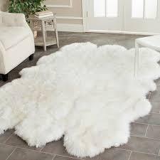 safavieh hand woven sheepskin pelt white shag rug 5 u0027 x 8 u0027 free
