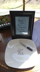 plate guest book bridal shower dollar store plate guest book baked at 425 degrees