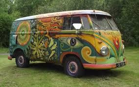 volkswagen van hippie hippie van under the hammer psychedelic type 2 vw up for auction