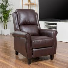 amazon com denise austin home memphis pu leather recliner club