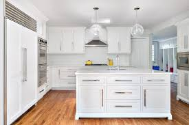 kitchen cabinets with long pulls contemporary clean modern for