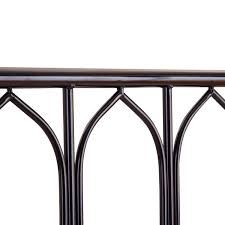 gothic style metal bed frame madonna white or black bedstead
