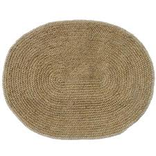 Synthetic Jute Rug Hand Woven Braided Bleached Natural Jute Rug 6 U0027 6