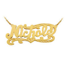 Gold Chain With Name 24k Gold Plated Sterling Silver Personalized Name Necklace With