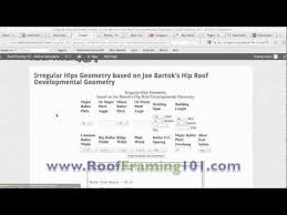 Hip And Valley Roof Calculator Irregular Hip Roof Rafter Construction Calculator Youtube