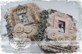 Fabric Photo Album My Desert Cottage Fabric And Lace Book Tutorial