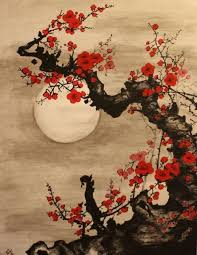 Japanese Flowers Pictures - best 25 japanese painting ideas on pinterest japanese ink