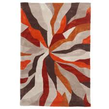Home Decor Sale Uk by Nebula Rug In Orange Terracotta And Brown