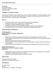 Unix Developer Resume Web Developer Resume Sample Writing Tips Rg