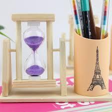 papeterie de bureau en bois stylo de bureau de façon créative fournitures papeterie