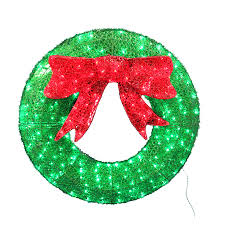 led lighted wreaths with lb international 48