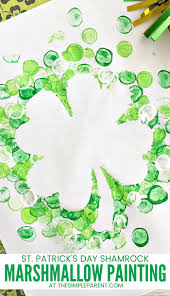 shamrock marshmallow painting for st patrick u0027s day u2022 the simple