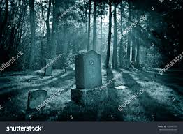 spooky cemetery clipart spooky cemetery light rays coming through stock photo 122646310