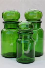 green canisters kitchen mod vintage green glass kitchen canisters airtight seal