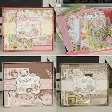 scrapbook album kits vintage photo album kit diy scrapbook kit with scrapbook paper and