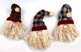 charming and whimsical plush santa ornament