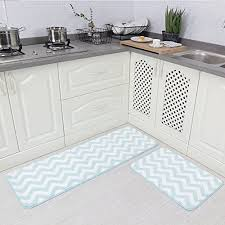Yum Kitchen Rug Carvapet 2 Pieces Microfiber Chevron Non Slip Soft Mat Pricestage