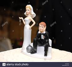 and chain cake topper cake topper wedding day and groom and chain stock