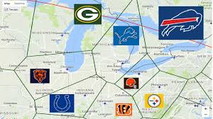 Map Of The Midwest Map Where Closest Nfl Teams Album On Imgur