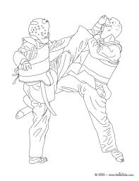 taekwondo combat sport coloring page more martial arts and sports