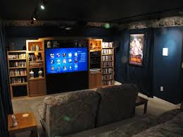 simple home theater ideas white grey wall color paint double bird