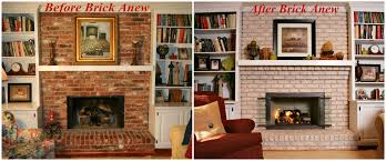 painting tired old brick fireplace brick anew blog
