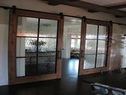 Glass Wall Doors by Barn Door Sliding Barn Doors With Glass For Astonishing Glass