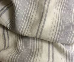 new to customlinenshandmade on etsy grey white striped duvet