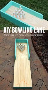 diy indoor outdoor bowling lane indoor outdoor plays and gaming