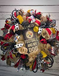 steelers wreath pittsburgh steelers wreath steelers football