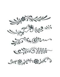 flower ornaments finger set tattooednow ltd