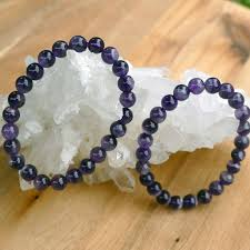 bracelet with beads images Amethyst bracelet with beautiful shiny beads earth inspired gifts jpg