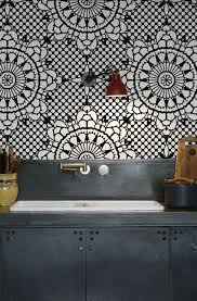 black and white moroccan tile wallpaper decoration