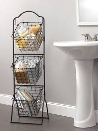 Bathroom Basket Storage by Wire Storage Basket Bins Shelving 3 Tier Rack Organizer Fruit