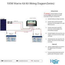 100 watt 12 volt monocrystalline solar marine kit hqst solar