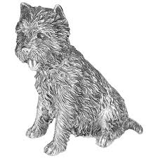 exquisite sterling silver sitting west highland terrier ornament