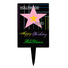 hollywood cake toppers zazzle